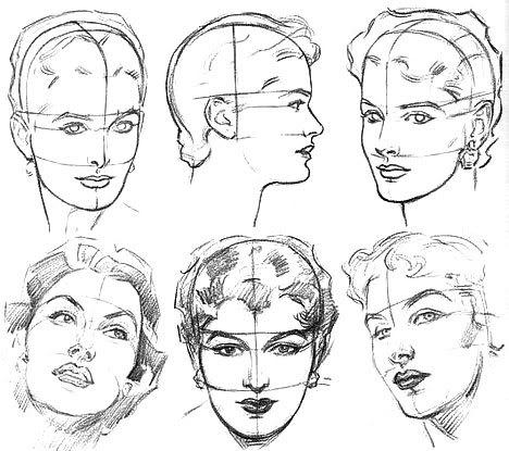 как рисовать лицо фото